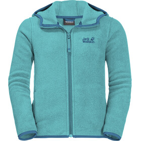 Jack Wolfskin Baksmalla Hooded Jacket Kids aquamarine